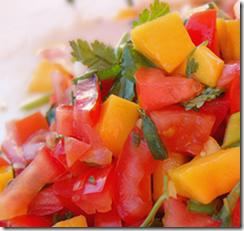 Salsa de Mango y Jitomate. Receta de Cocina