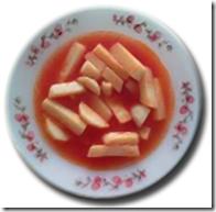 Receta de Sopa de Papa con Caldillo de Jitomate