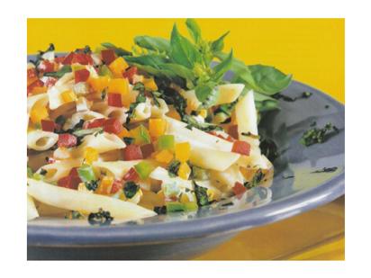 Ensalada de Pasta con Pimientos. Receta