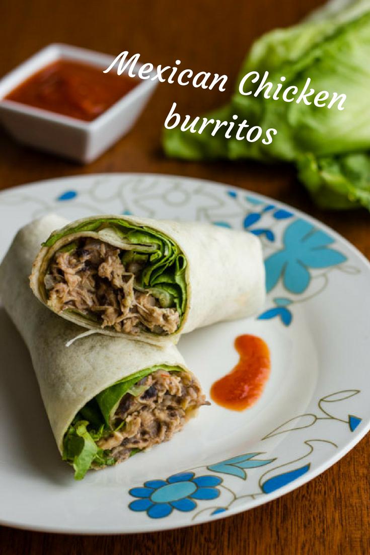 Mexican Chicken Burritos | cocinamuyfacil.com