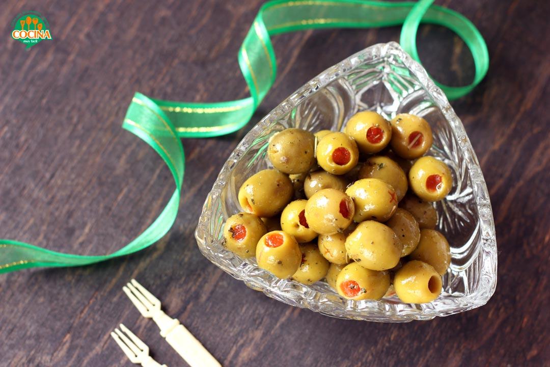 Aceitunas a la vinagreta. Receta | cocinamuyfacil.com
