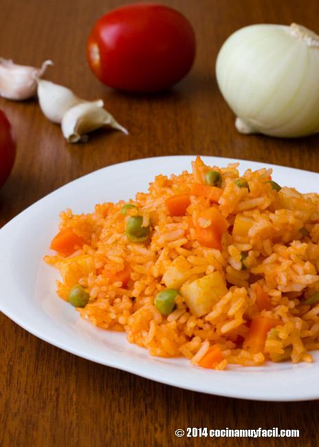 Arroz rojo receta cocina muy facil for Como cocinar 5 kilos de arroz