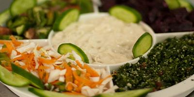 Bocadillo para el trabajo: Hummus y vegetales