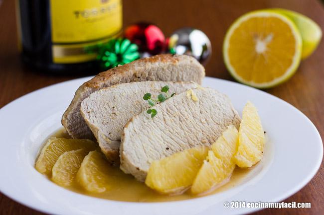 Lomo de Cerdo a la Naranja. Receta para Navidad | cocinamuyfacil.com