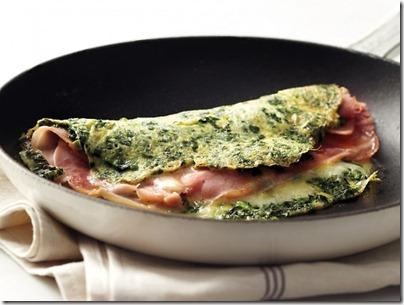 Omelet con Espinacas y Jamón. Receta