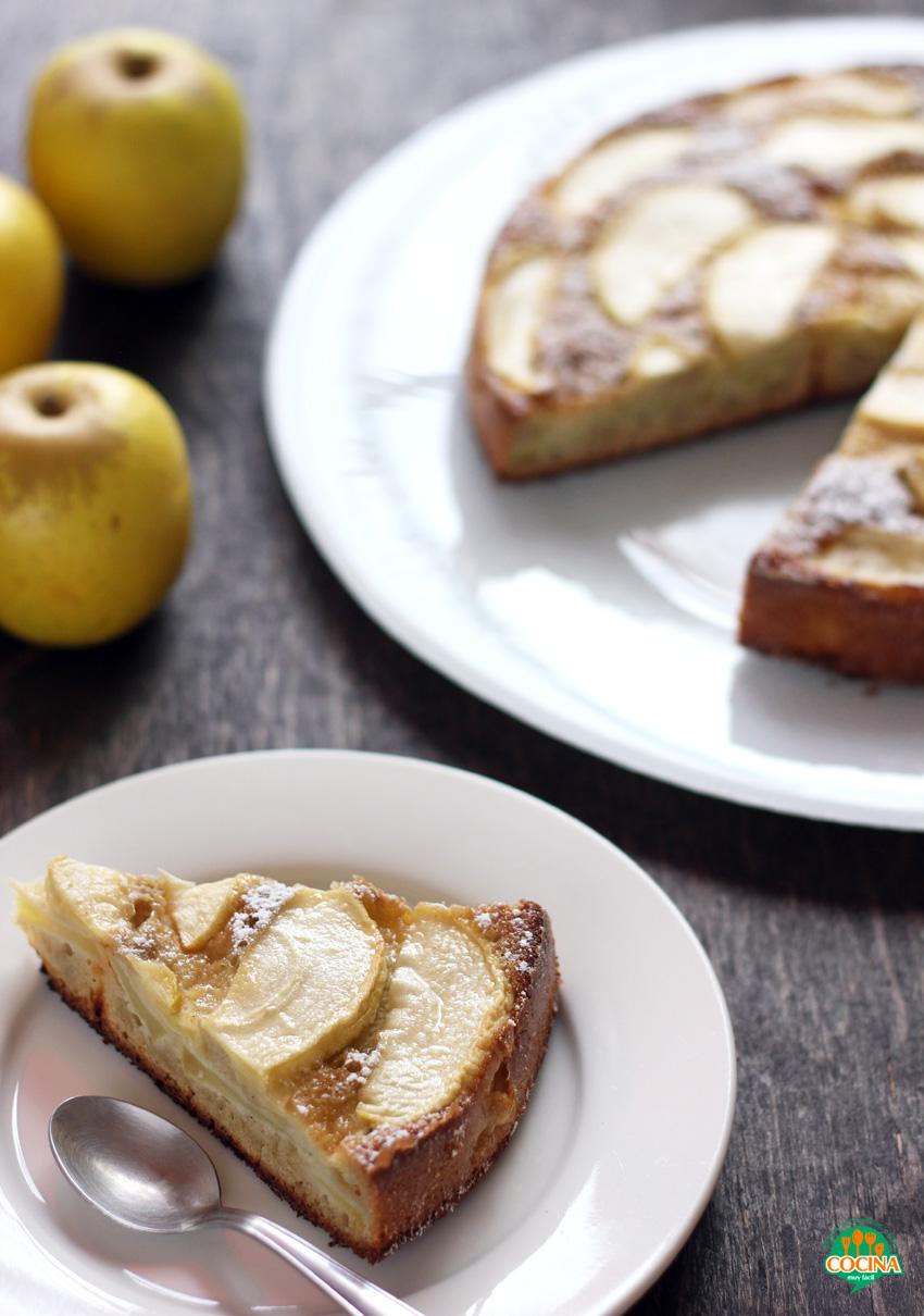 Pastel de manzana bajo en grasa. Receta | cocinamuyfacil.com