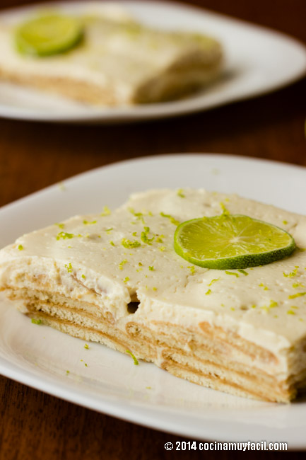 Pie de limón frío con galletas Marías | cocinamuyfacil.com