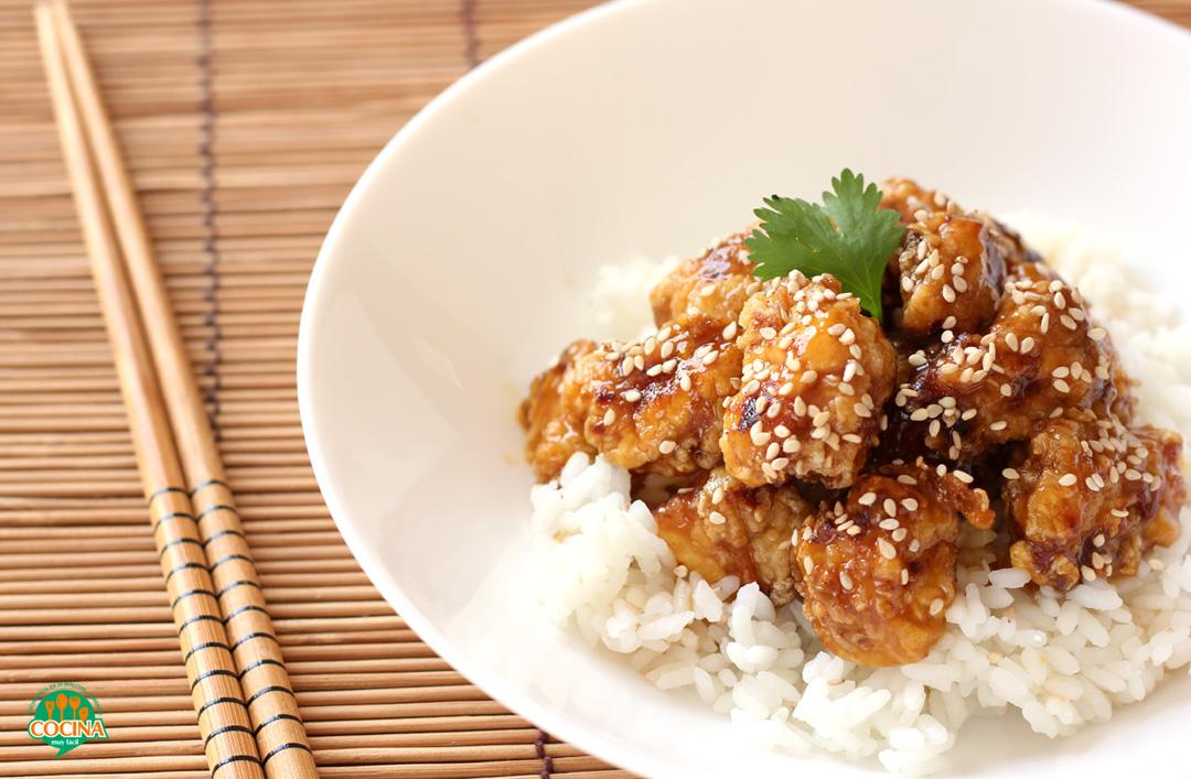 Receta de pollo a la naranja estilo chino | cocinamuyfacil.com