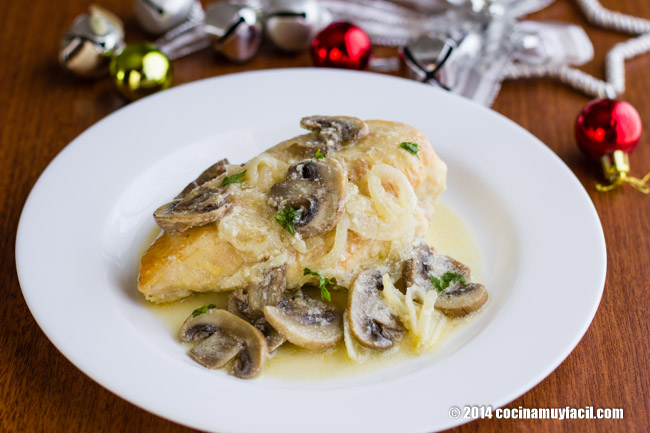 Creamy Lemon Chicken. Christmas Recipe| cocinamuyfacil.com/en/