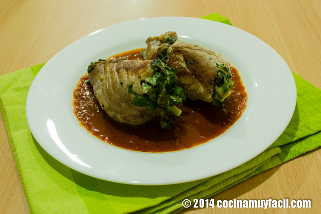 rollitos de carne rellenos de verduras