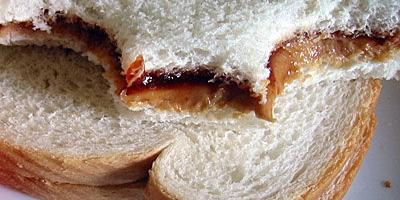 Bocadillo para el trabajo: Sandwich de crema de cacahuate