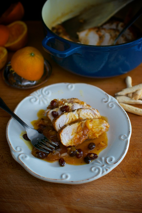 Receta de solomillos de pavo con salsa de naranja