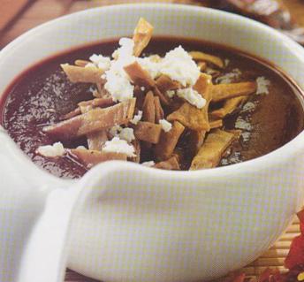 Sopa de chile ancho y juajillo receta