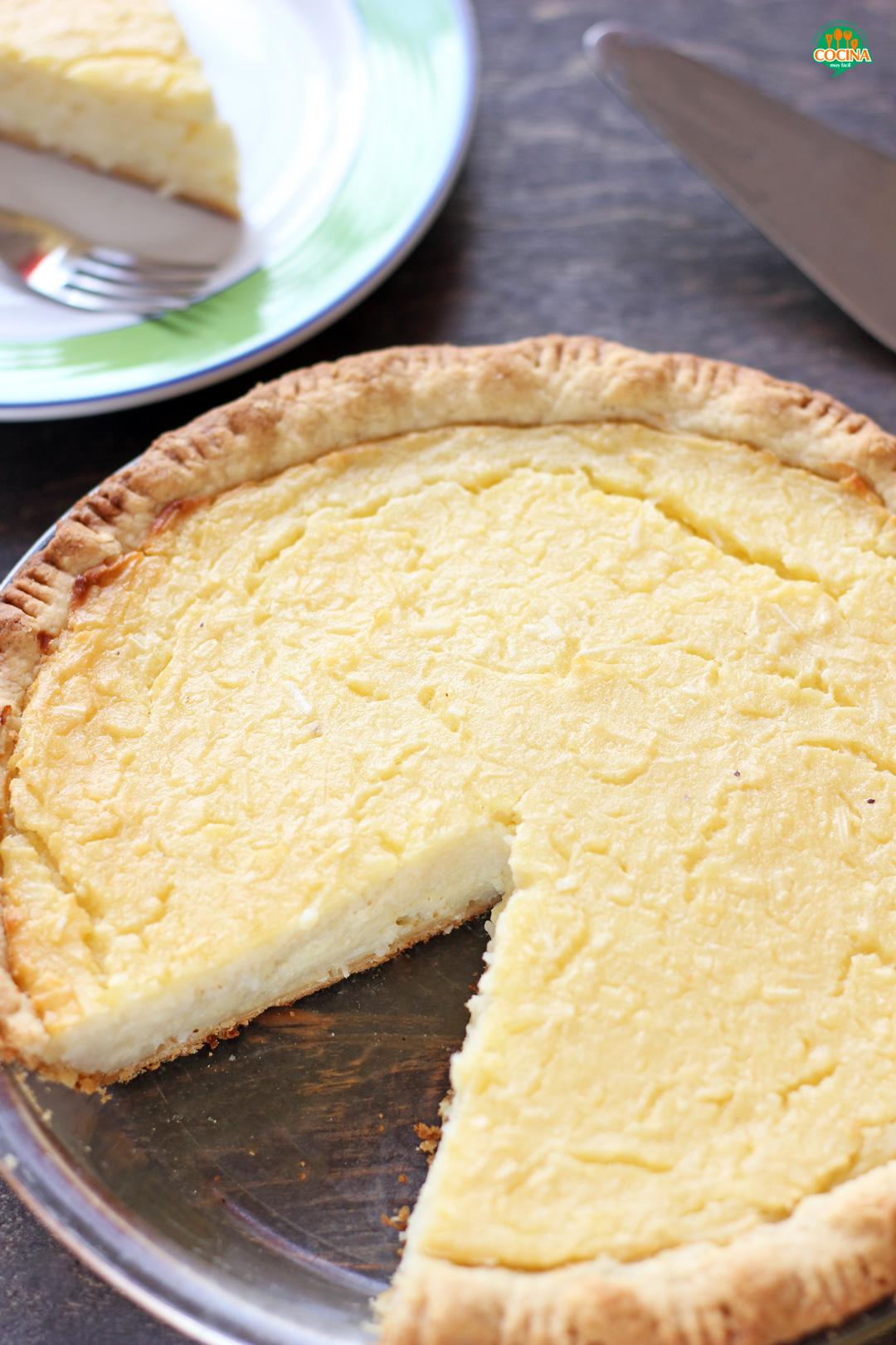 Tarta de coco o Pay de coco | cocinamuyfacil.com