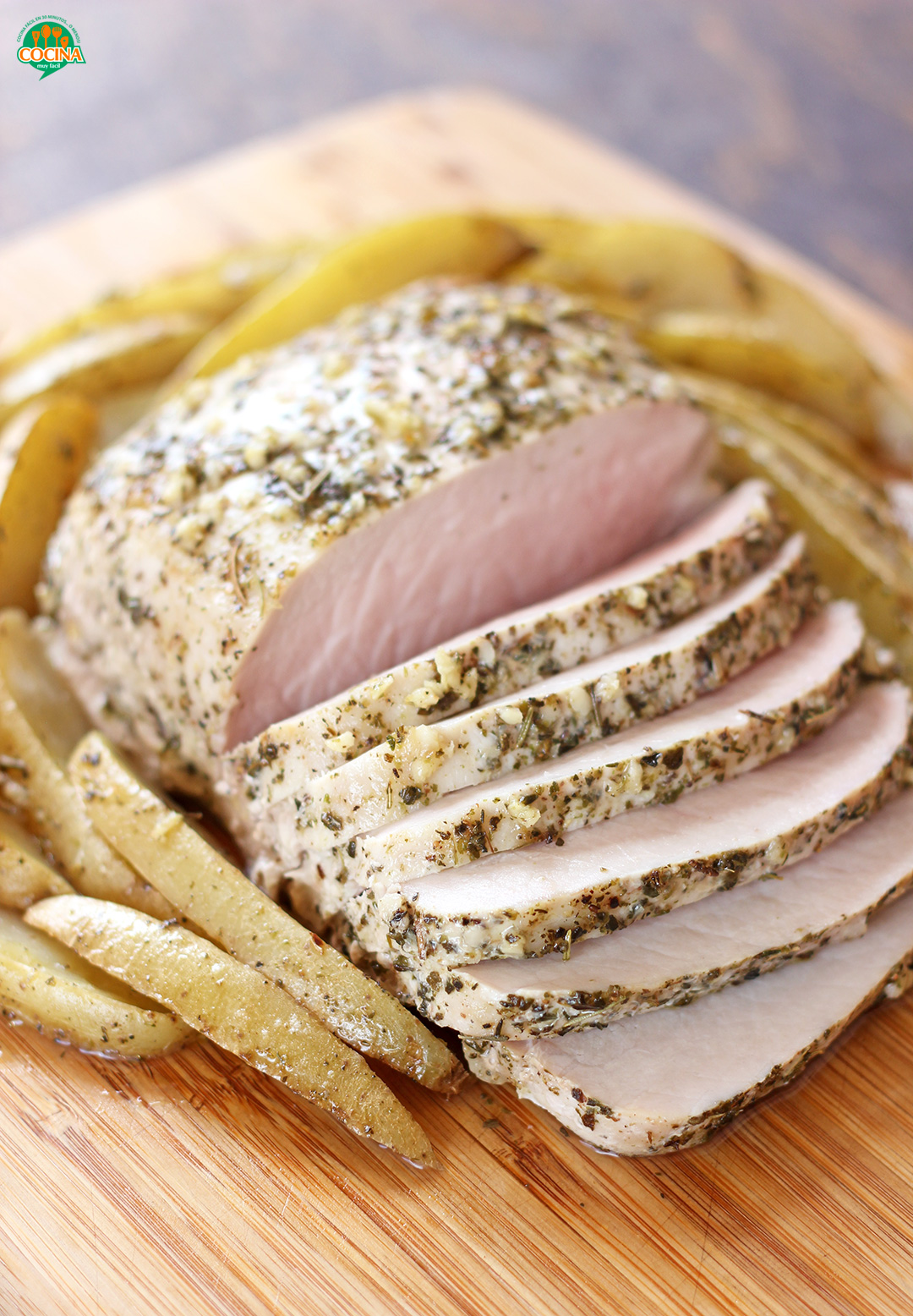 Lomo de cerdo a las finas hierbas. Receta para Navidad | cocinamuyfacil.com